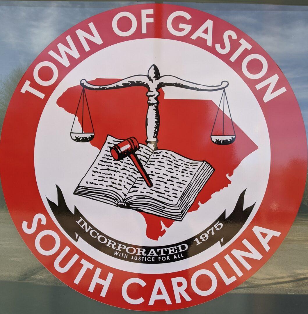 Town Logo on Window